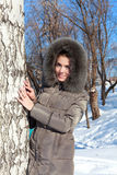 Woman in winter clothes Royalty Free Stock Images