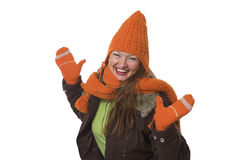 Woman in winter clothes. Winter Stock Photos