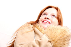 Woman in Winter clothes Royalty Free Stock Photography