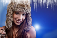 Woman in winter  coat. Royalty Free Stock Photos