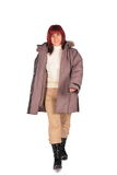 Woman in winter coat 2 Royalty Free Stock Image