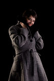 Woman in winter coat Royalty Free Stock Image