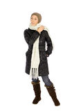 Woman in Winter Fashion Royalty Free Stock Photos