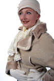 Woman in winter fur Royalty Free Stock Image
