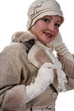 Woman in winter fur Royalty Free Stock Photos