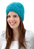 Woman with a winter hat Royalty Free Stock Photography