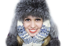Woman in a winter hat Royalty Free Stock Images