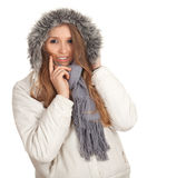 Woman in winter jacket Royalty Free Stock Photo