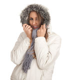 Woman in winter jacket Royalty Free Stock Photography
