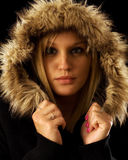 Woman in Winter Jacket Stock Image