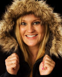 Woman in Winter Jacket Stock Photos