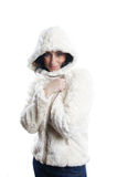 Woman with winter jacket Royalty Free Stock Photo