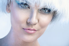 Woman with  winter make up Stock Photos