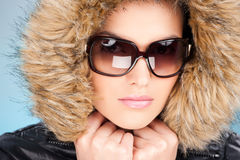 Woman in winter outfit Royalty Free Stock Image