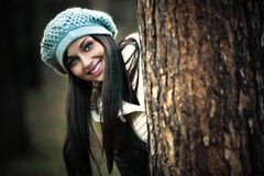 Woman winter portrait Royalty Free Stock Photos