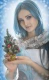 Woman winter portrait. Stock Images