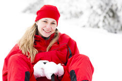 Woman in winter Stock Photo