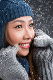 Woman in winter Royalty Free Stock Photos