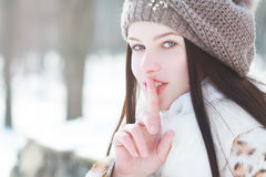 Woman winter portrait Royalty Free Stock Images
