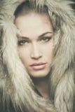 Woman winter portrait Stock Photos