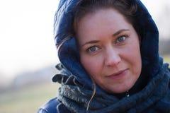 Woman winter portrait Stock Photo