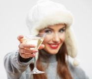Woman winter style clothes portrait. Stock Photography
