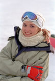 Woman at winter vacation Stock Photos