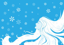Woman winter. Vector illustration Stock Photos