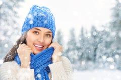 Woman on a winter walk Royalty Free Stock Photos