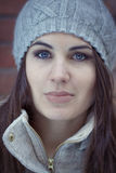 Woman in Winter stock images