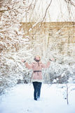 Woman in winter Royalty Free Stock Photo
