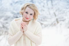 Woman in winter Stock Image