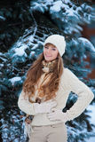 Woman in wintertime Royalty Free Stock Images