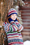Woman in wintertime Royalty Free Stock Photos
