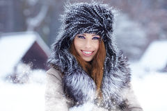 Woman in wintertime outdoor Stock Photo