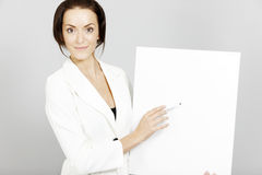 Woman with wipe board Royalty Free Stock Photography