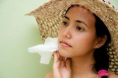 Free Woman Wipe Sweat Stock Photo - 22192760