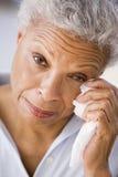 Woman Wiping Away Tears Royalty Free Stock Photos
