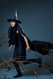 Woman in witch costume Stock Photography