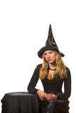 Woman in a witch costume Royalty Free Stock Photo