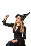 Woman in a witch costume Royalty Free Stock Image