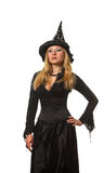 Woman in a witch costume Stock Photo