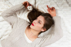 Free Woman With A Cotton Flower Royalty Free Stock Image - 83421306