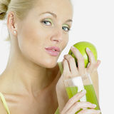 Woman With A Glass Of Juice Stock Image