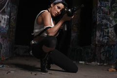 Free Woman With A Gun. Stock Photo - 7536860