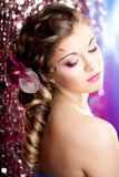 Woman With A Wonderful Luxury Makeup And Hairstyle Stock Image