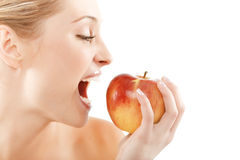 Free Woman With Apple Stock Photography - 10188532