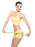 Woman With Beautiful Body After Diet Stock Images
