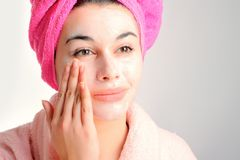 Woman With Beauty Mask Stock Image