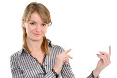 Woman With Board Royalty Free Stock Image